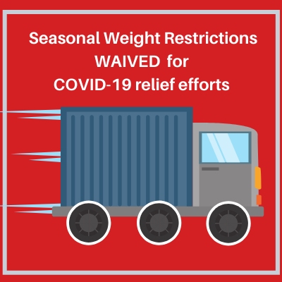 Seasonal Restrictions Waived for COVID-19 Relief